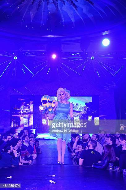 Trixie Mattel performs during the 'RuPaul's Drag Race' Season 7 New York premiere party at Queen of the Night/Diamond Horseshoe at the Paramount...