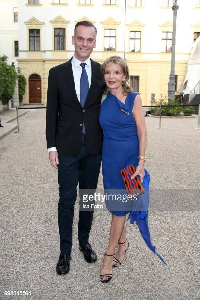 Trixie Millies and guest attend the Thurn Taxis Castle Festival 2018 'Tosca' Opera Premiere on July 13 2018 in Regensburg Germany