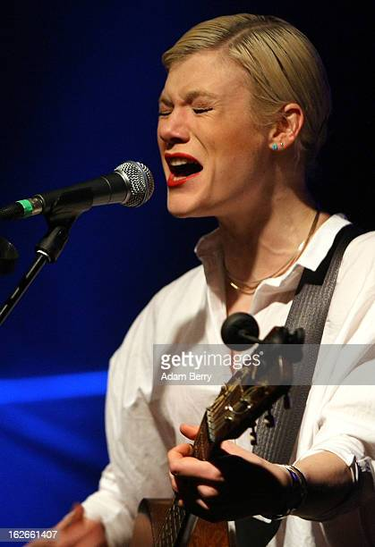 Trixie Whitley performs at the Postbahnhof on February 25, 2013 in Berlin, Germany.