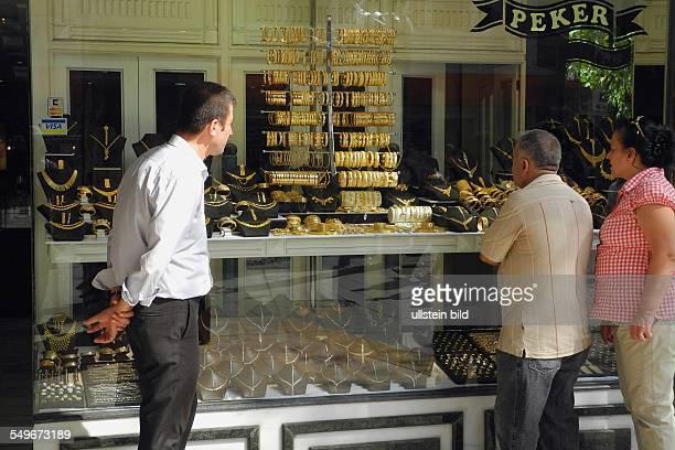 Türkei Antalya Geschäft mit Goldschmuck