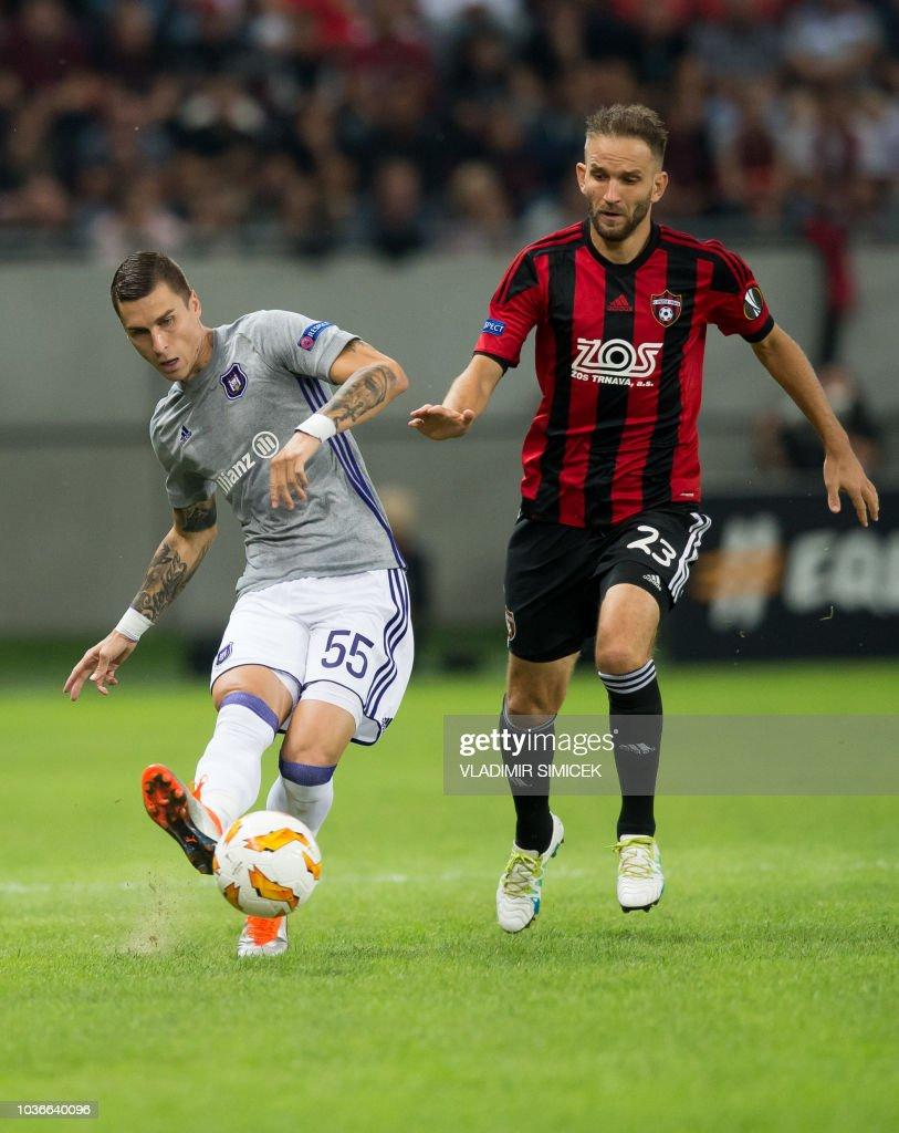FC Spartak Trnava v RSC Anderlecht - UEFA Europa League - Group D