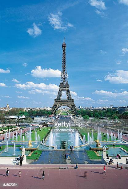 Trocadero fountains and the Eiffel Tower, Paris, France