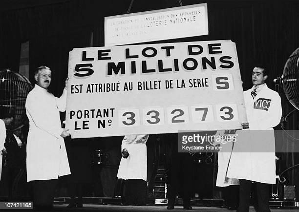Trocadero Winning Lottery Numbers Board In Paris On December 20Th 1933