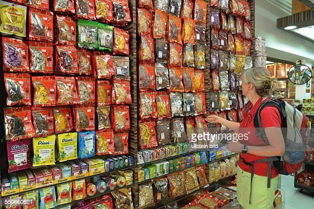 Trockenfruechte Laden Chinatown Singapur / Trockenfrüchte