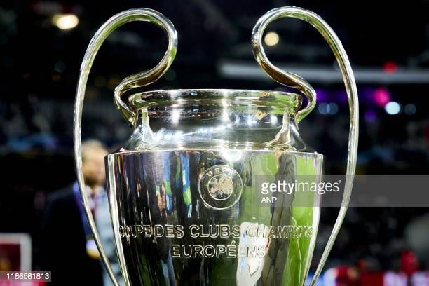 Trofee, trophy, beker, cup, price, cup with the big ears, back side, winners during the UEFA Champions League group H match between OSC Lille and...