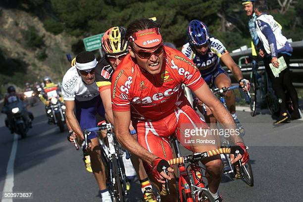 Trofeo Laigueglia Mirko Celsstino Saeco leder udbrud an efterfulgt af Axel Merckx DomoFarm Frites og Roberto Petito Fasssa Bortolo