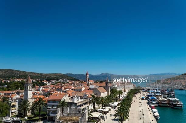 Trogir view from top of Kamerlengo Fortress , Croatia