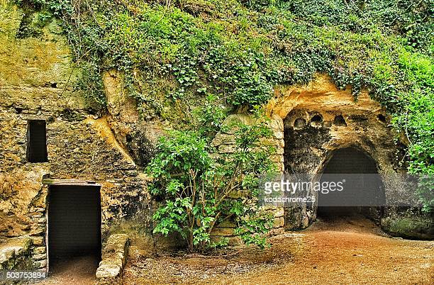 troglodyte house - loire valley stock pictures, royalty-free photos & images