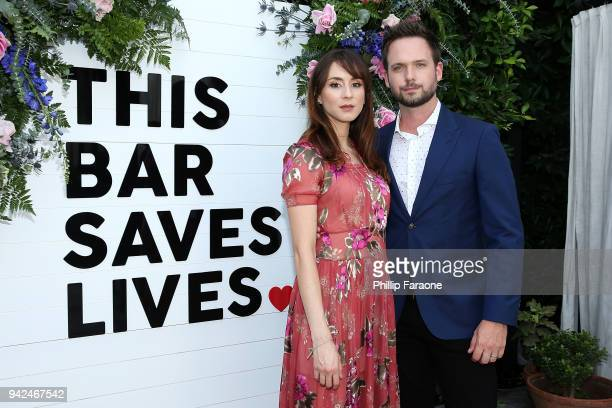 Troian Bellisario and Patrick Adams attend This Bar Saves Lives Press Launch Party at Ysabel on April 5 2018 in West Hollywood California