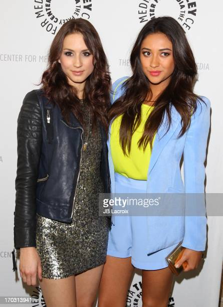 "Troian Bellisario and Shay Mitchell attend the ""Pretty Little Liars: #PLL Is @PaleyCenter"" at The Paley Center for Media on June 10, 2013 in Beverly..."