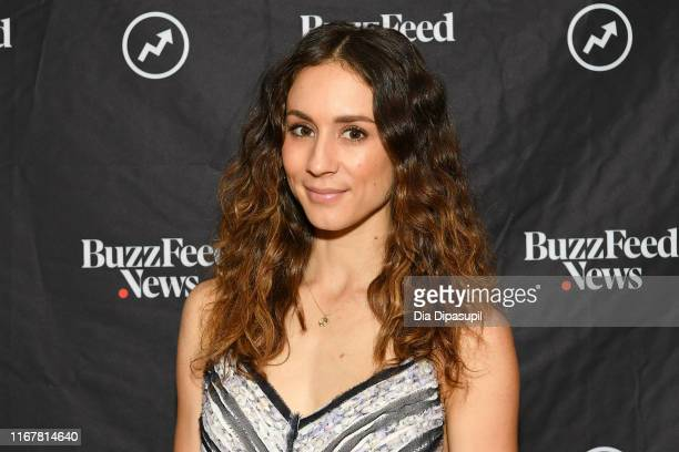 "Troian Bellisario at BuzzFeed's ""AM to DM"" on August 13, 2019 in New York City."