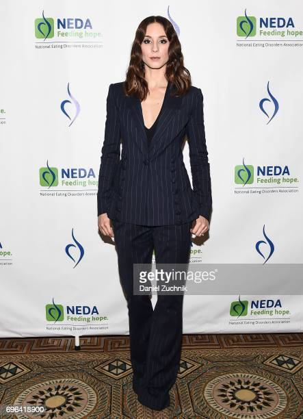 Troian Bellisario attends the 15th Annual Benefit Gala 'An Evening Unmasking Eating Disorders' hosted by The National Eating Disorder Association at...