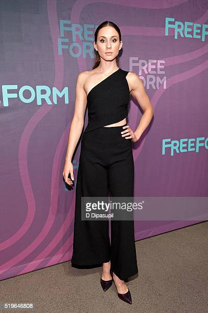Troian Bellisario attends the 2016 ABC Freeform Upfront at Spring Studios on April 7, 2016 in New York City.