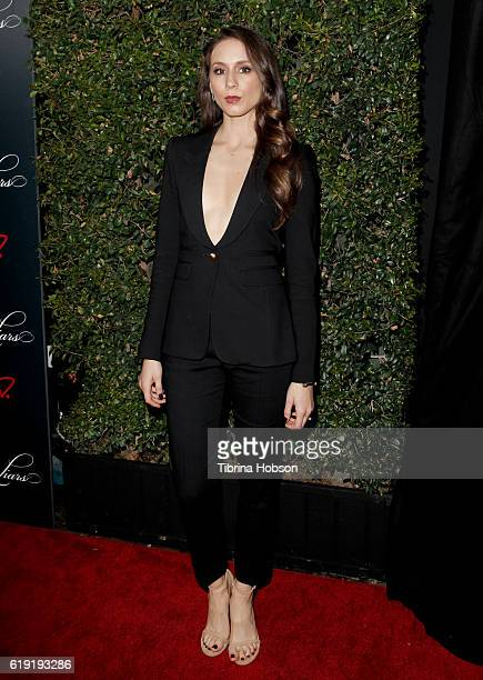 Troian Bellisario attends the celebration for 'Pretty Little Liars' final season at Siren Studios on October 29, 2016 in Hollywood, California.