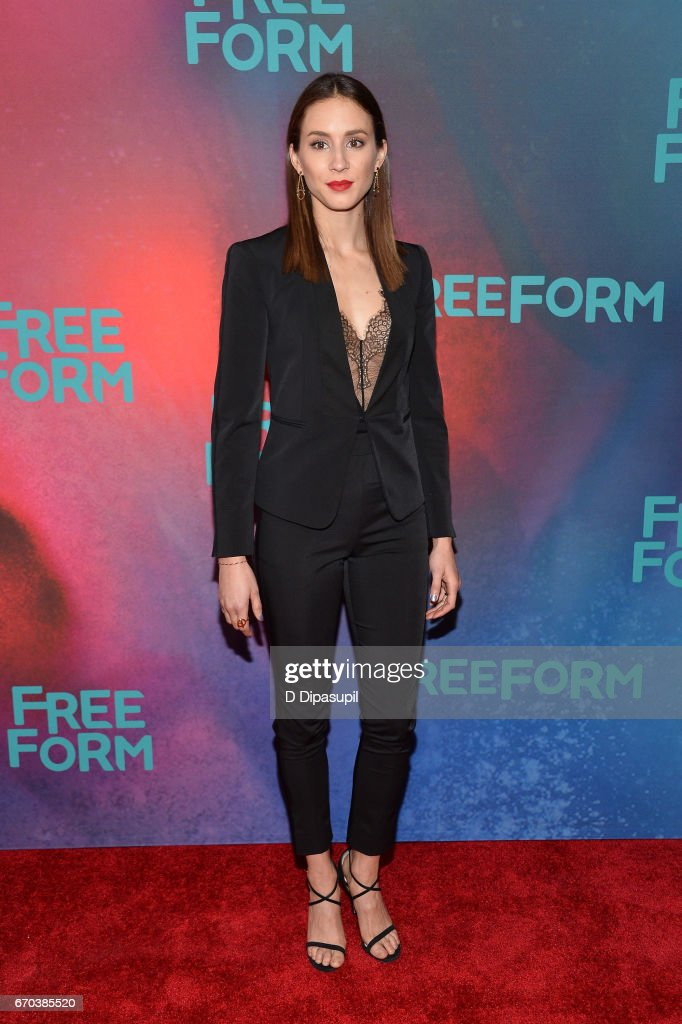 Troian Bellisario attends the Freeform 2017 Upfront at Hudson Mercantile on April 19, 2017 in New York City.
