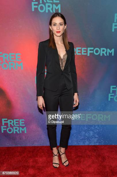 Troian Bellisario attends the Freeform 2017 Upfront at Hudson Mercantile on April 19 2017 in New York City