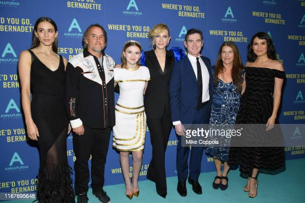 Troian Bellisario Richard Linklater Emma Nelson Cate Blanchett Billy Crudup Ginger Sledge and Zoe Chao attends the Where'd You Go Bernadette New York...