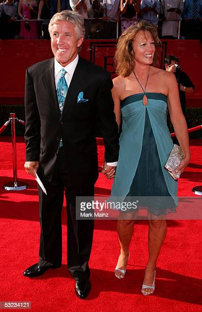 Trojan football coach Pete Carroll and his wife arrive at the 13th Annual ESPY Awards at the Kodak Theatre on July 13 2005 in Hollywood California