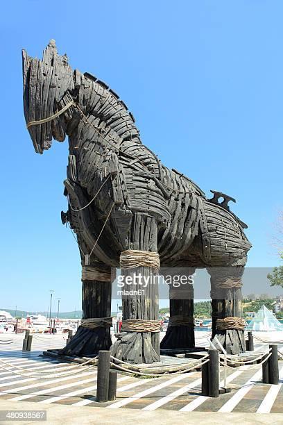 cavallo di troia - cavallo di troia foto e immagini stock