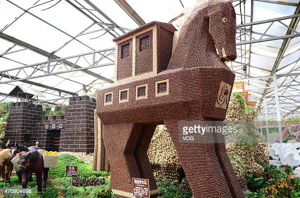 'Trojan Horse' shows on the 16th China International Vegetable SciTech Fair on April 23 2015 in Weifang Shandong province of China