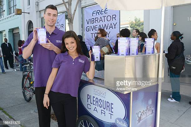 Trojan Vibrations gives San Francisco residents the biggest return on pleasure this Tax Day with a massive Trojan vibrator giveaway on April 12 2013...