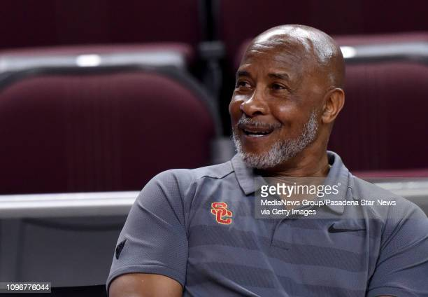 Trojans Athletic Director Lynn Swann in the first half of a NCAA basketball game between the USC Trojans and the UCLA Bruins at the Galen Center on...