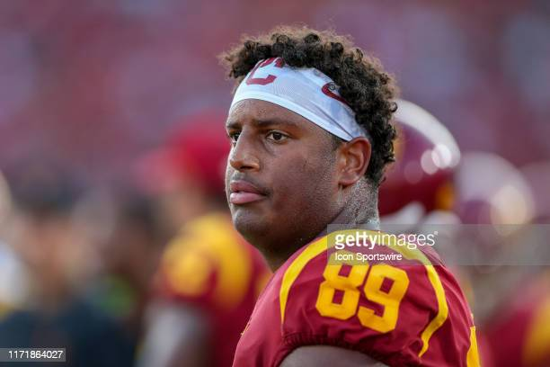 Trojans defensive lineman Christian Rector during a college football game between the Utah Utes and The USC Trojans on September 20 at the Los...
