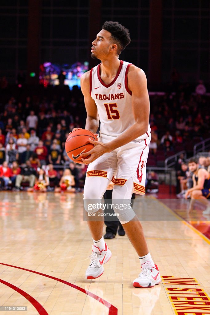 USC's freshman big man, Isaiah Mobley had a superb showing off the bench to help lead his team to a win over Arizona.  (Photo by Brian Rothmuller/Icon Sportswire via Getty Images)