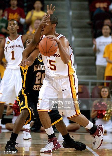 USC Trojans guard Dwight Lewis in a 79 to 61 victory over the Long Beach State 49ers on November 24 2006 at the Galen Center in Los Angeles California