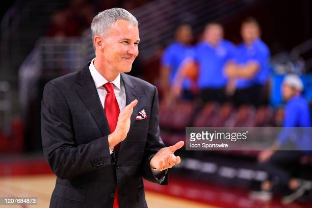Trojans head coach Andy Enfield looks on before the college basketball game between the UCLA Bruins and the USC Trojans on March 7 2020 at Galen...