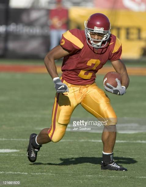 USC Trojans receiver Steve Smith runs against the Colorado State Rams in the first quarter Saturday September 11 2004 at the Los Angeles Memorial...