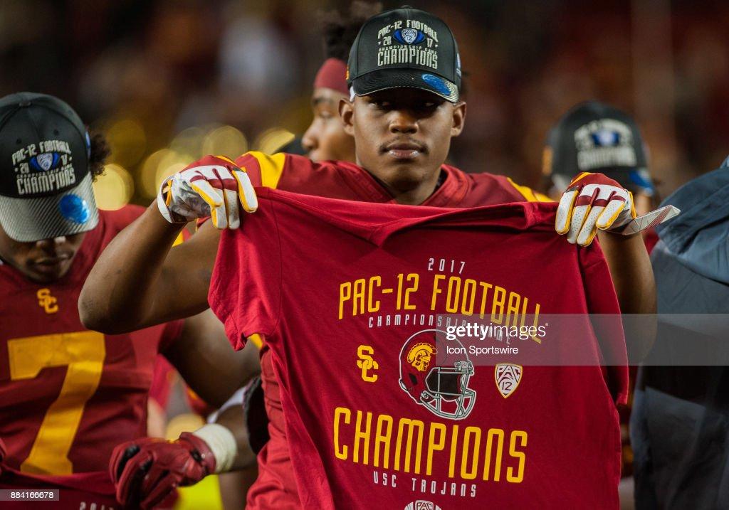 save off c4124 97788 USC Trojans wide receiver Steven Mitchell Jr. lifts up a ...