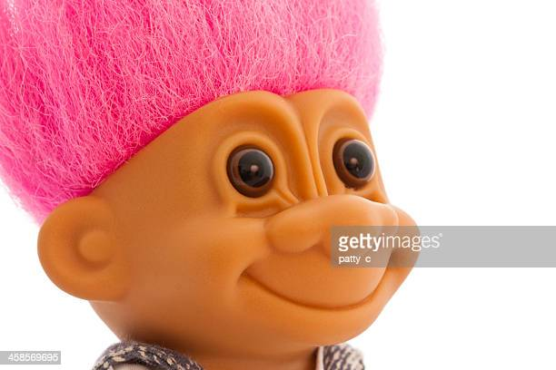 troll doll isolated - troll stock photos and pictures
