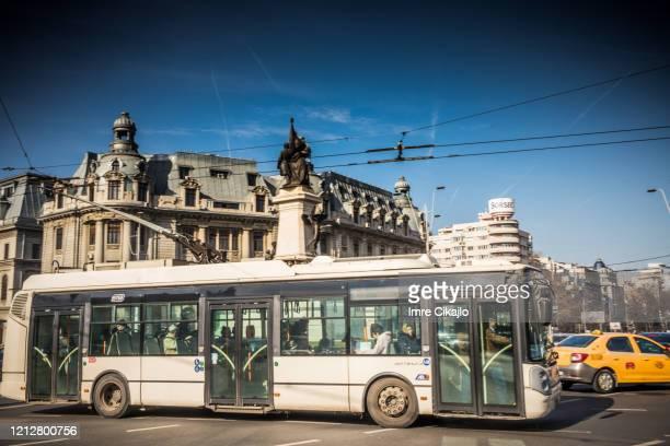 trådbuss, bukarest - rumänien bildbanksfoton och bilder