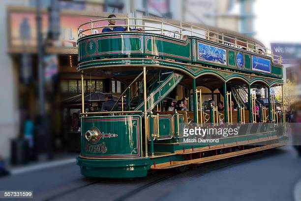 trolley car - the grove los angeles stock pictures, royalty-free photos & images
