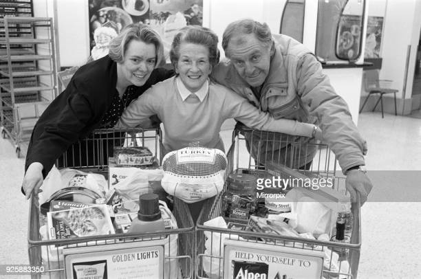 ASDA trolley dash winner Marjorie Stansfield pictured with Susan Wilkinson of ASDA and Lions President Gerlad Higginson at ASDA Birkby 11th December...