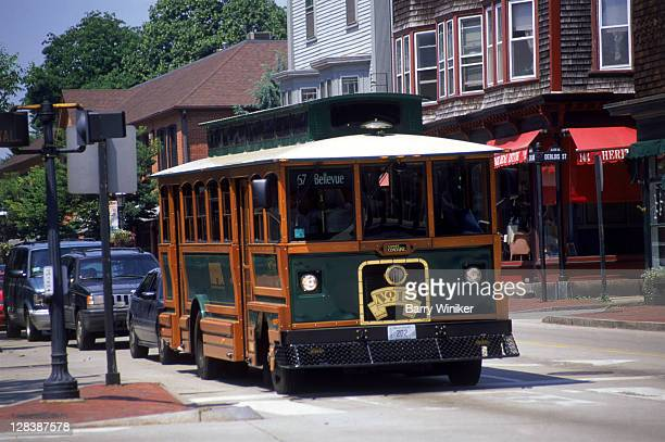 trolley, newport, ri - newport rhode island stock pictures, royalty-free photos & images