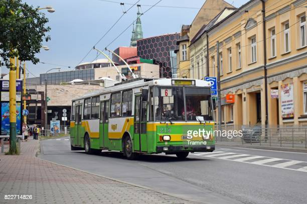 trolleybus škoda 14tr - zilina stock pictures, royalty-free photos & images