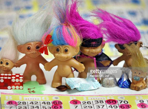 Trolls candy dice and other good luck charms are part of Judy Johnson's 'shrine' at Friday's bingo game May 18 at the American Legion Post 370 in...