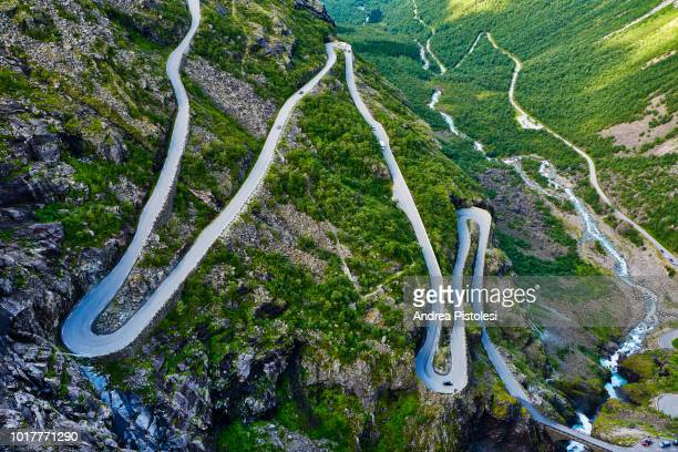 trollstigen pass road, norway - mountain pass stock pictures, royalty-free photos & images