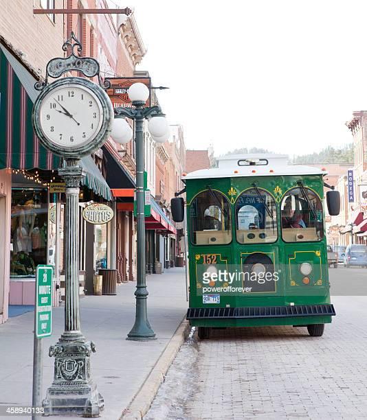 Trolly on Main Street - Deadwood, South Dakota