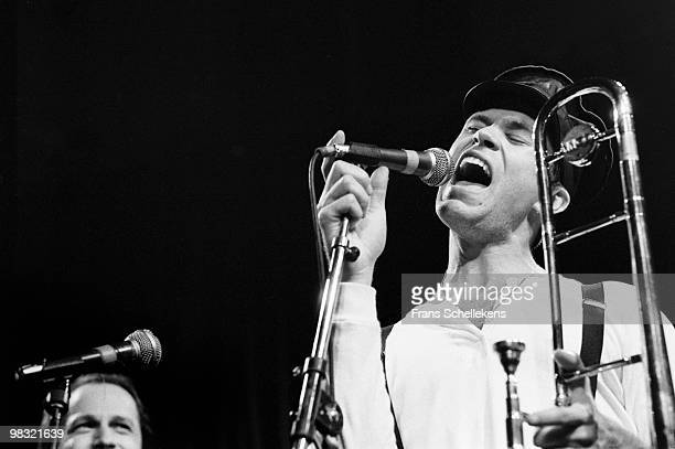 Trombone player Ray Anderson performs live on stage in Meervaart, Amsterdam, Netherlands on October 27 1984
