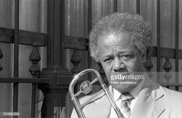 Trombone player Slide Hampton posed in Amsterdam, Netherlands on April 18 1985