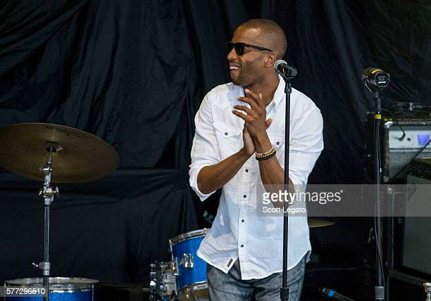 Trombone Shorty & Orleans Avenue perform at DTE Energy Music Theater on July 18, 2016 in Clarkston, Michigan.