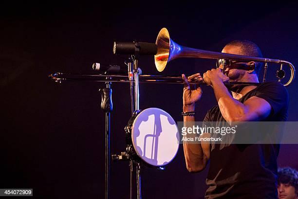 Trombone Shorty performs at The Orange Peel on December 6, 2013 in Asheville, North Carolina.