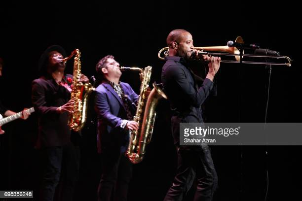 Trombone Shorty performs during the Apollo Spring Gala 2017 at The Apollo Theater on June 12 2017 in New York City