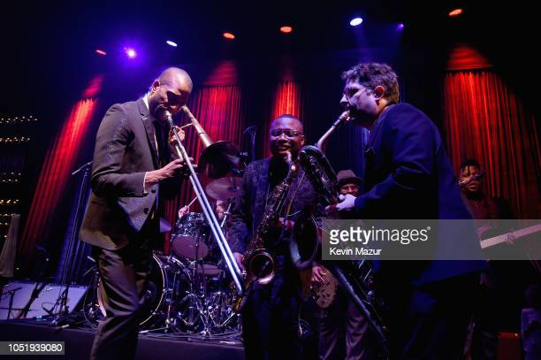 Trombone Shorty performs onstage during the City of Hope Spirit of Life Gala 2018 at Barker Hangar on October 11 2018 in Santa Monica California