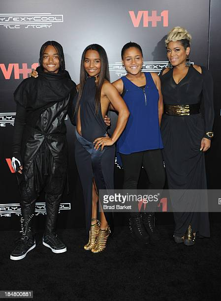 Tron Austin Rozonda Thomas Chase Anela Rolison and Tionne Watkins attend the CrazySexyCool Premiere Event at AMC Loews Lincoln Square 13 theater on...
