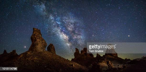 trona pano - mars, jupiter, perseid - solar system stock photos and pictures