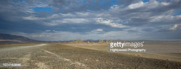 trona pinnacles wide - highlywood stock photos and pictures